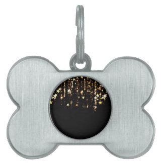falling stars pet tags