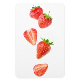 Falling strawberries magnet