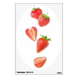 Falling strawberries wall sticker