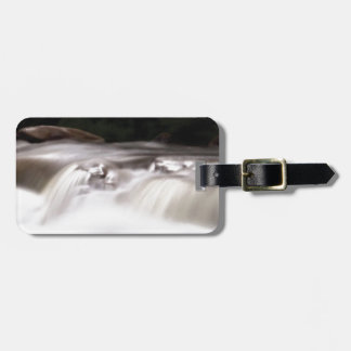 falling water flow luggage tag