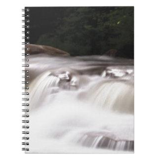 falling water flow notebook