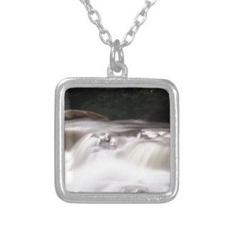falling water flow silver plated necklace