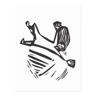 Falling Woman Postcard