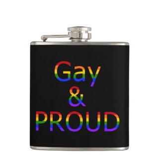 Fallln Gay and Proud Flasks