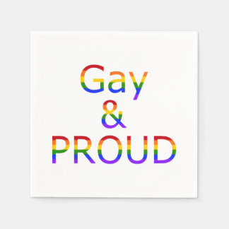 Fallln Gay and Proud Paper Napkin