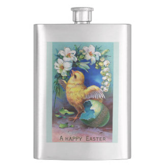 Falln A Happy Easter Chick Hip Flask