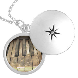 Falln A Melody Left Abadoned Silver Plated Necklace