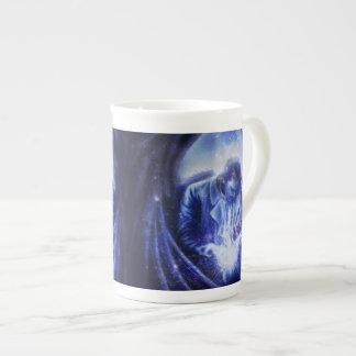 Falln Angel in Blue Tea Cup