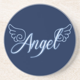 Falln Angel With Wings Beverage Coaster