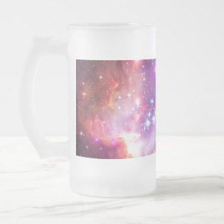 Falln Angelic Galaxy Frosted Glass Beer Mug