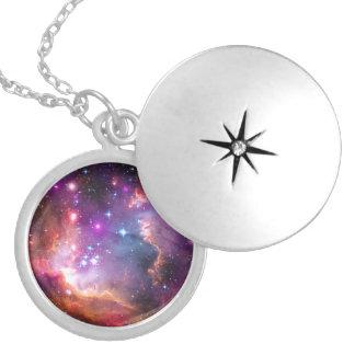 Falln Angelic Galaxy Locket Necklace