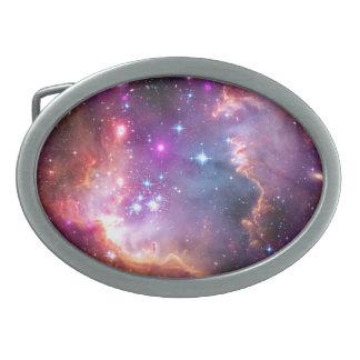 Falln Angelic Galaxy Oval Belt Buckle