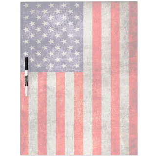 Falln Antique American Flag Dry-Erase Board
