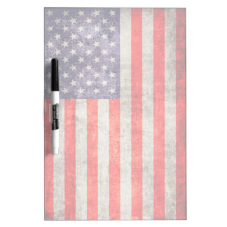Falln Antique American Flag Dry-Erase Boards