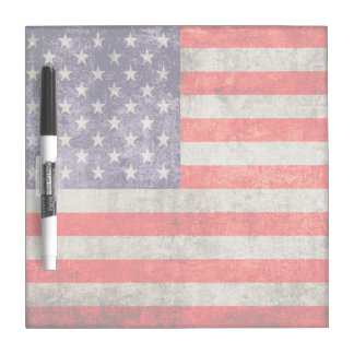Falln Antique American Flag Dry Erase Boards