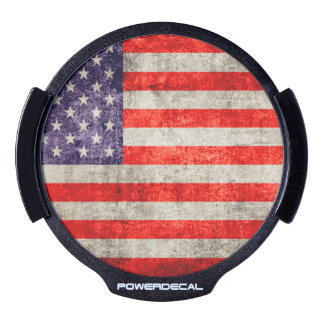 Falln Antique American Flag LED Auto Decal
