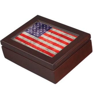 Falln Antique American Flag Memory Box