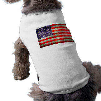 Falln Antique American Flag Pet Tee