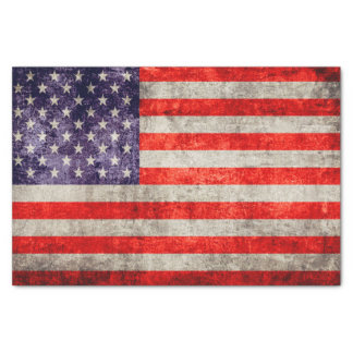 Falln Antique American Flag Tissue Paper