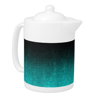 Falln Aqua & Black Glitter Gradient