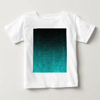 Falln Aqua & Black Glitter Gradient Baby T-Shirt