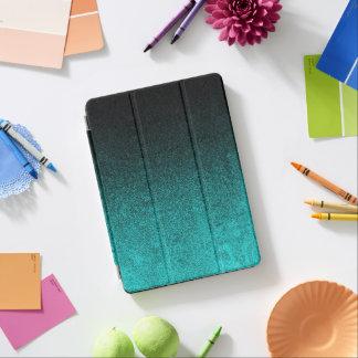 Falln Aqua & Black Glitter Gradient iPad Air Cover