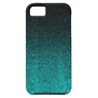 Falln Aqua & Black Glitter Gradient iPhone 5 Covers