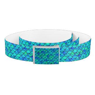 Falln Aqua Blue Scales Belt