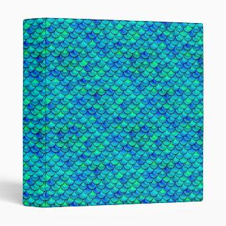 Falln Aqua Blue Scales Binders