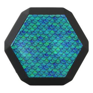 Falln Aqua Blue Scales Black Bluetooth Speaker