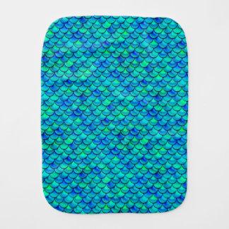 Falln Aqua Blue Scales Burp Cloth