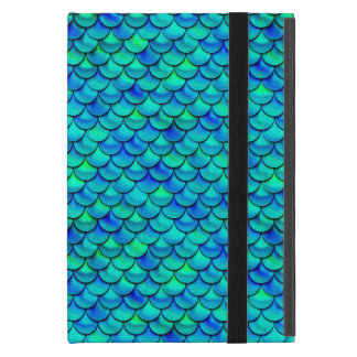 Falln Aqua Blue Scales Cover For iPad Mini