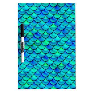 Falln Aqua Blue Scales Dry Erase Board