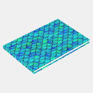 Falln Aqua Blue Scales Guest Book