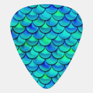 Falln Aqua Blue Scales Guitar Pick