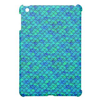 Falln Aqua Blue Scales iPad Mini Covers