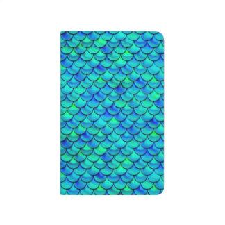 Falln Aqua Blue Scales Journal