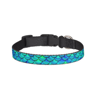 Falln Aqua Blue Scales Pet Collar