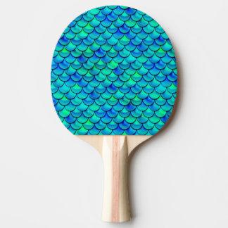 Falln Aqua Blue Scales Ping Pong Paddle