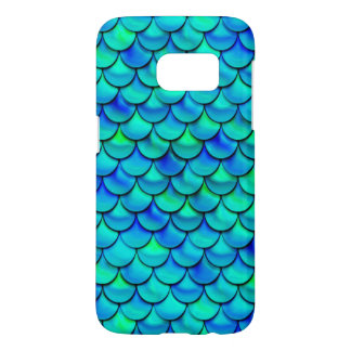 Falln Aqua Blue Scales Samsung Galaxy S7 Case