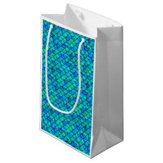 Falln Aqua Blue Scales Small Gift Bag