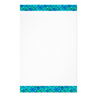 Falln Aqua Blue Scales Stationery