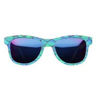 Falln Aqua Blue Scales Sunglasses