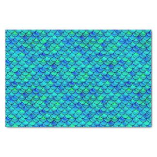 Falln Aqua Blue Scales Tissue Paper