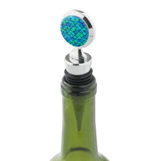 Falln Aqua Blue Scales Wine Stopper