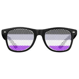 Falln Asexual Pride Flag Retro Sunglasses