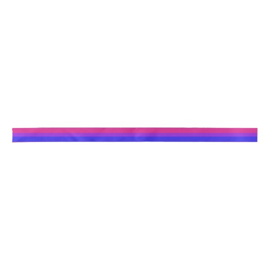 Falln Bisexual Pride Flag Satin Ribbon