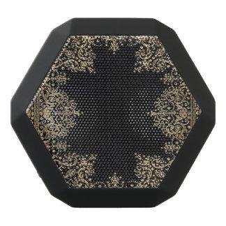 Falln Black And Gold Filigree Black Bluetooth Speaker