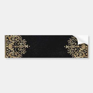 Falln Black And Gold Filigree Bumper Sticker