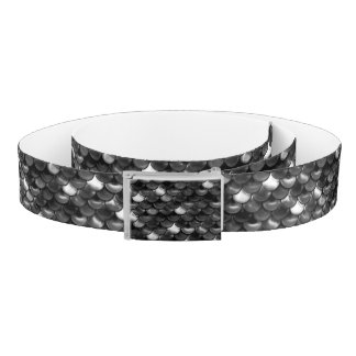 Falln Black and White Scales Belt
